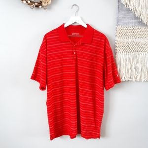 Nike | Nike Golf Fit Dry | Red Golf Polo